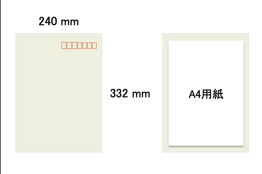 角形2号の封筒サイズ