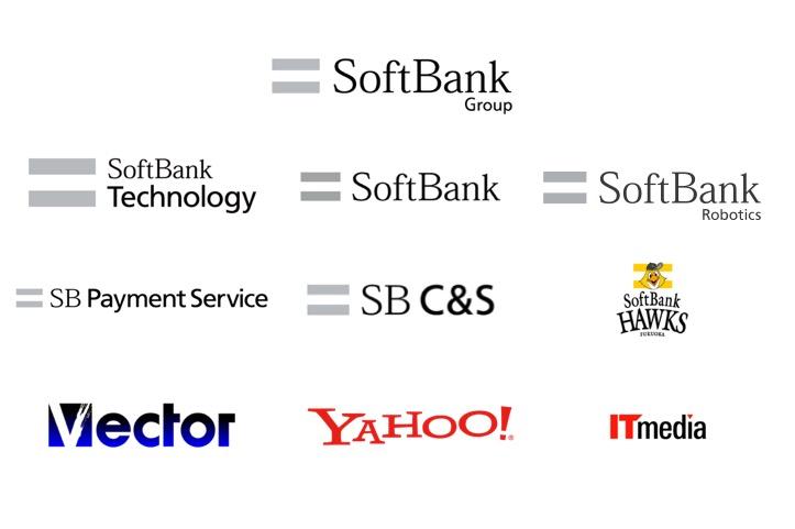 ソフトバンクグループ会社のロゴ