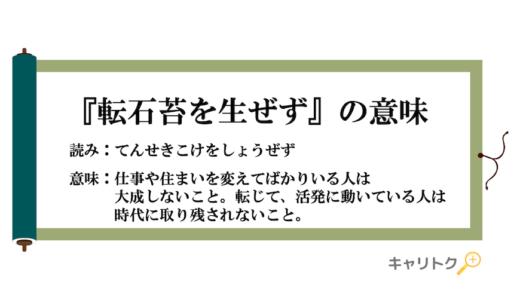 『転石苔を生ぜず(てんせきこけをしょうぜず)』の意味【英語表現・例文・類語も解説】